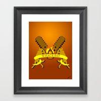 WHACK BAT Framed Art Print