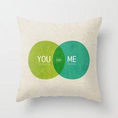 U & I = Fun 2013 Calendar Throw Pillow