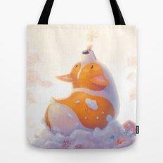 Corgi and Snowflakes Tote Bag