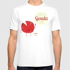 Have a Gouda Day Mens Fitted Tee White SMALL