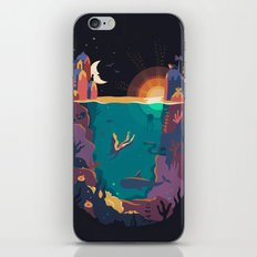 Underwater letter U iPhone & iPod Skin