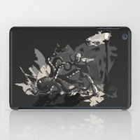 Octopus Wrestling with a Robot iPad Case