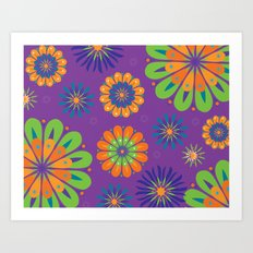 Psychoflower Purple Art Print