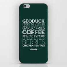 Seattle — Delicious City Prints iPhone & iPod Skin