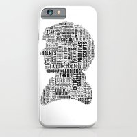 iPhone & iPod Case featuring Sherlock BBC Benedict Cumberbatch Typography Silhouette by MollyW