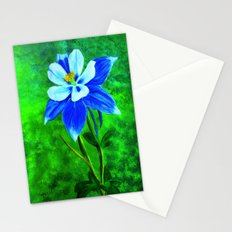 Blue columbine Stationery Cards