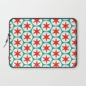 Retro Red Stars Pattern Laptop Sleeve