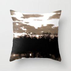 halloween sunrise Throw Pillow