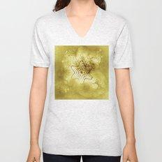 Star mandala in gold Unisex V-Neck