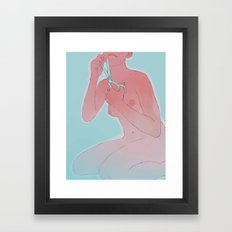 talkshowhost Framed Art Print