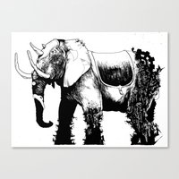 Elephant Machine God Canvas Print