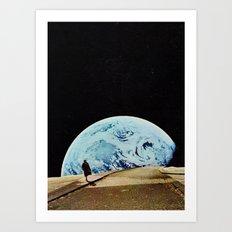 Moon walking Art Print