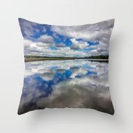 Throw Pillow featuring Clouds Reflected by JMcCool