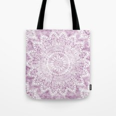 BOHEMIAN FLOWER MANDALA IN PINK Tote Bag