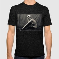 Nude Mens Fitted Tee Tri-Black SMALL