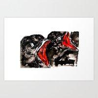 Crow Mouth Art Print