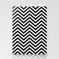 Chevron Black White Stationery Cards