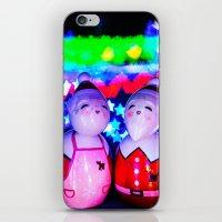 Merry Kokeshi Klause iPhone & iPod Skin