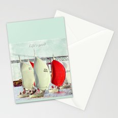 Sailboats in Newport Stationery Cards