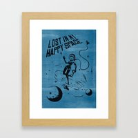 Lost In My Happy Space, … Framed Art Print