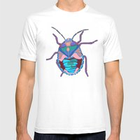 A Beautiful Beetle Mens Fitted Tee White SMALL