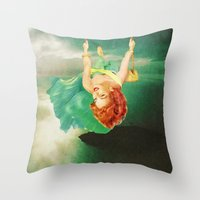 Hanging On Throw Pillow