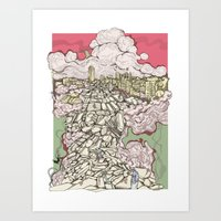 Deconstruction3 Art Print