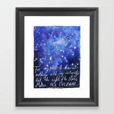 The Sight of the Stars Framed Art Print