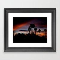 Purple Sunset Framed Art Print
