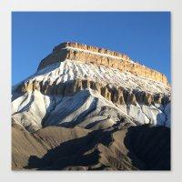 Mt Garfield Dust Canvas Print