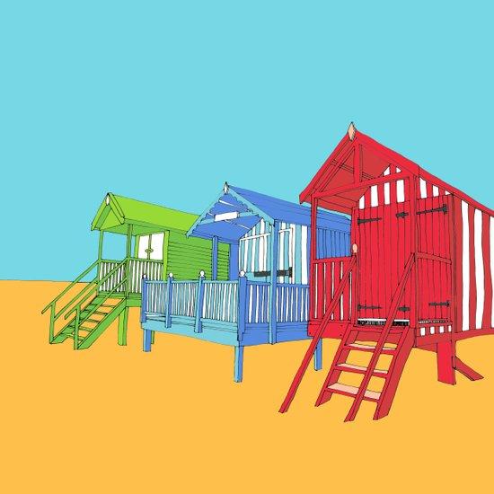 Thoughts of Summer // Beach Huts Art Print
