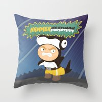 The Great Hammerheadman Throw Pillow