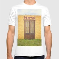 Internet Mens Fitted Tee White SMALL
