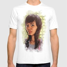 girl Mens Fitted Tee SMALL White