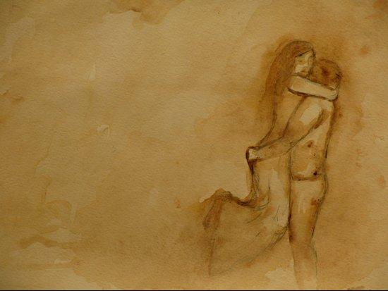 the love story Art Print