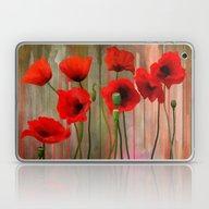 Watercolor Poppies   Laptop & iPad Skin