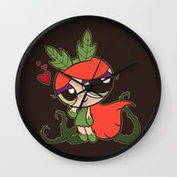 Poison Puff Wall Clock