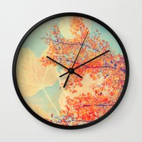 Leaves of Autumn Wall Clock