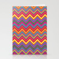 Colourful Chevrons Stationery Cards
