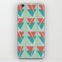 Triangles and lines iPhone & iPod Skin