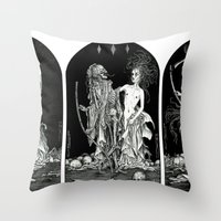 Death And The Maiden Tri… Throw Pillow