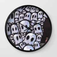 100 ghosts Wall Clock