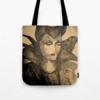 maleficent sketch Tote Bag