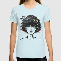 Girl Womens Fitted Tee Light Blue SMALL