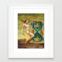 Times a Funny Thing Framed Art Print