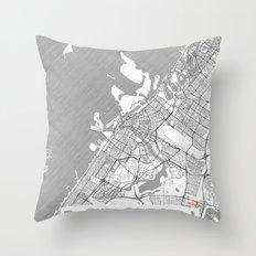 Dubai Map Line Throw Pillow