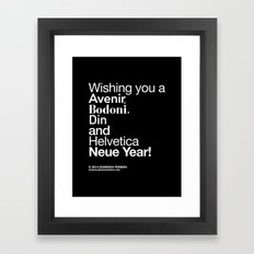 Happy Helvetica Neue Year 2014 Framed Art Print