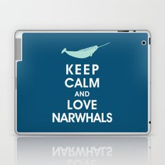 Keep Calm and Love Narwhals Laptop & iPad Skin