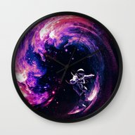 Space Surfing Wall Clock