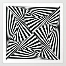 Twiangle BW Art Print